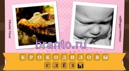 Ответы на игру Фразы уровень 3: крокодиловы слёзы