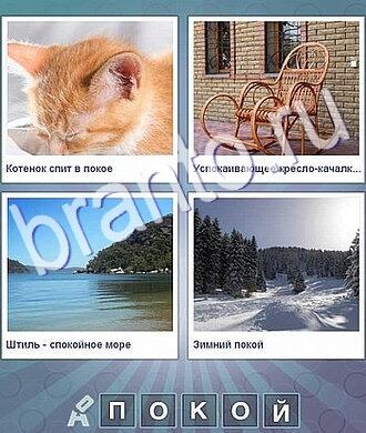Что за слово игра ответы: рыжий кот, кресло качалка, море, зимний лес