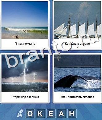 Что за слово: море, берег, парусник, гроза, кит