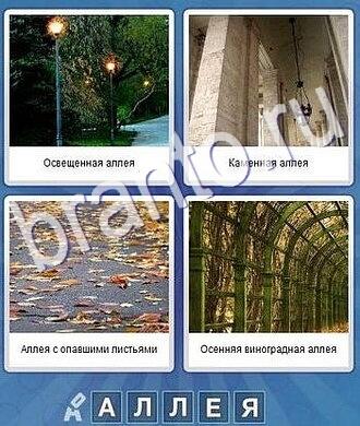 ответы что за слово дорожка и фонари, столбы, листья на дороге, арка