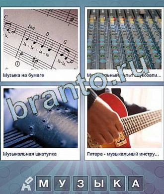 ноты, гитара, пульт звукооператора