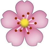 Guess the Emoji answers pink flower